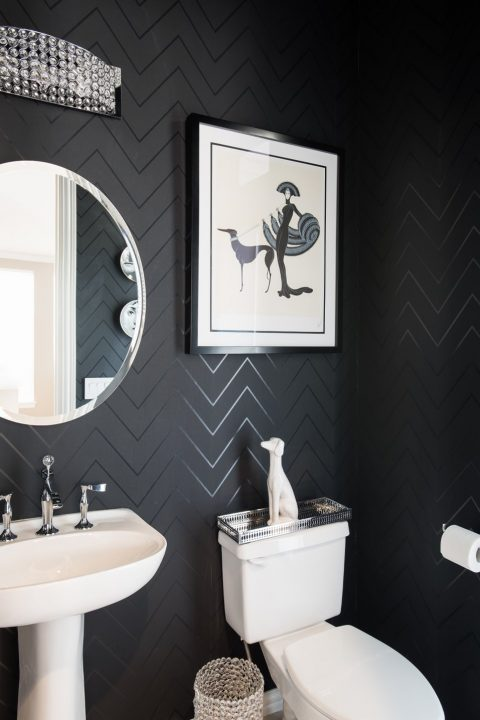 modern black bathroom design dallas