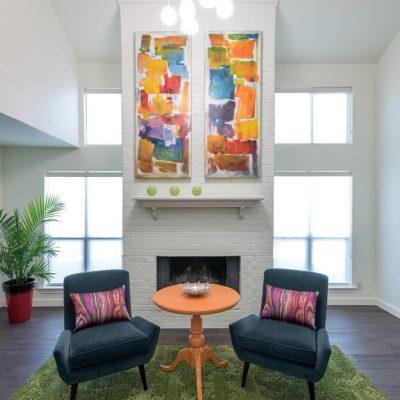 colorful interior design in dallas