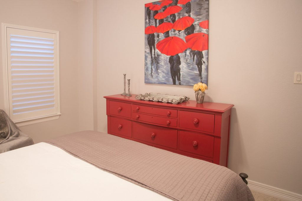 red bedroom interior design