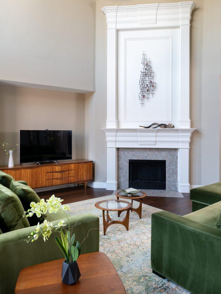 modern open living room design texas