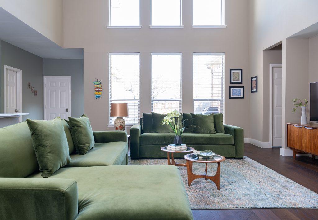 natural light open living room design dallas